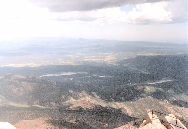 at the summit, Pikes Peak