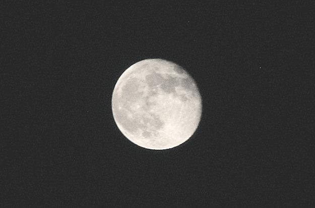 moon higher in the sky